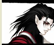 黒髪×赤目