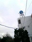 丸い貯水タンク
