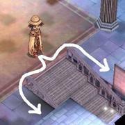 ゲフェン塔を降りられない。