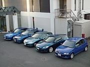 幸せの青い車乗り