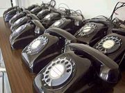 うち 黒電話 です。