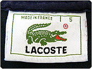 LACOSTE  Made in France