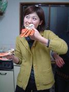 一口包みハムマヨネーズと岡智子